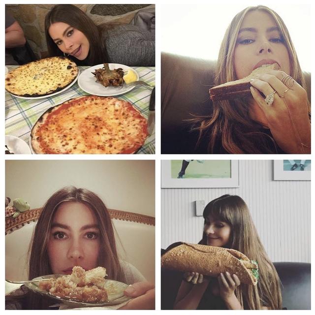 sofia vergara food selfies
