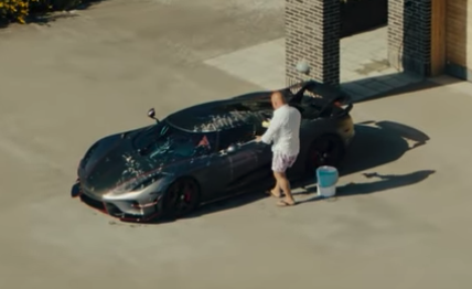 christian koenigsegg washing regera video