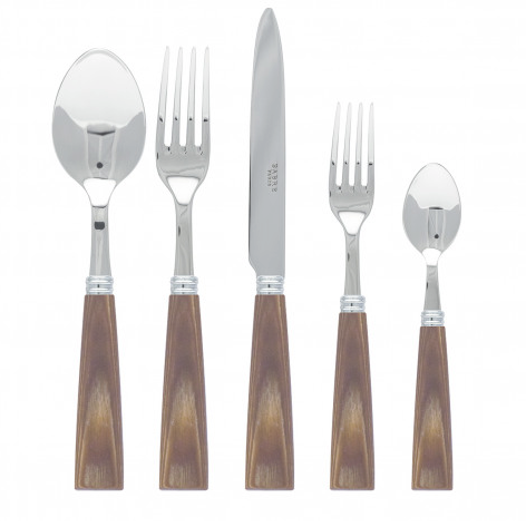 gracious style nature natural wood five piece place setting