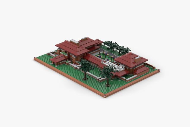 a plastic block model of the darwin d martin house