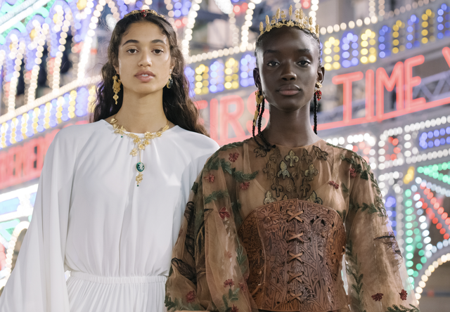 dior models at the cruise 2021 show