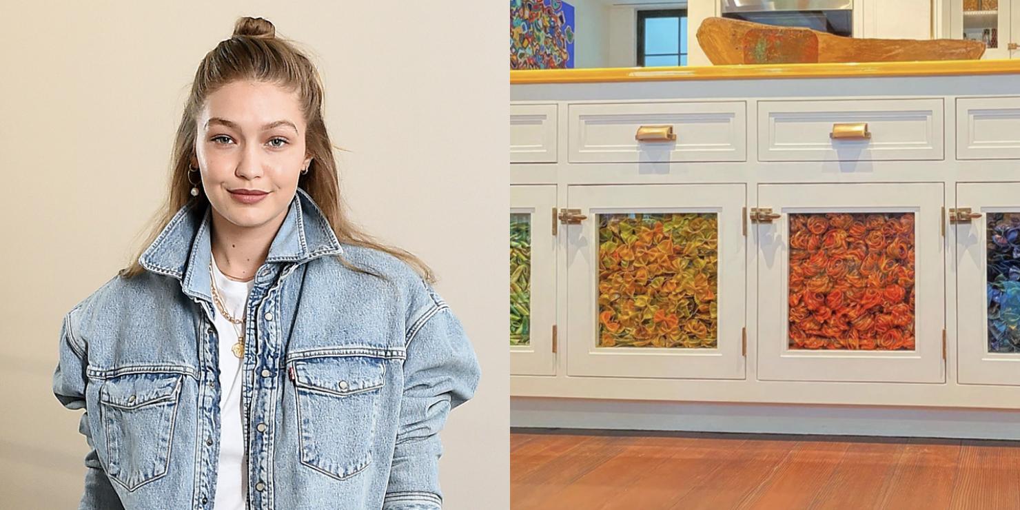 Gigi Hadid S Nyc Apartment Uses Dyed Pasta As Decoration
