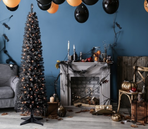 Michaels Christmas Decorations 2020 Michaels Is Selling a Pre Lit Black Halloween Tree