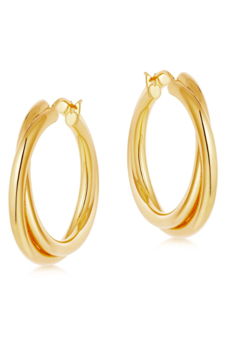 missoma lucy williams gold entwine hoops £95