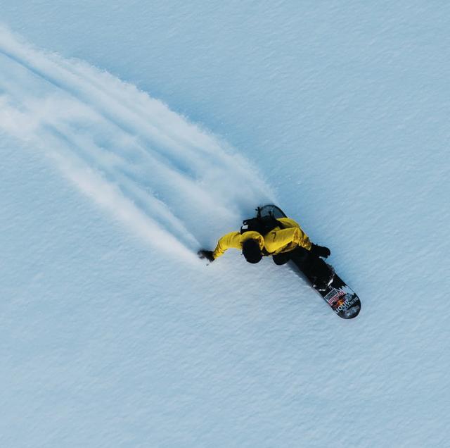 burton snowboarder powder slash