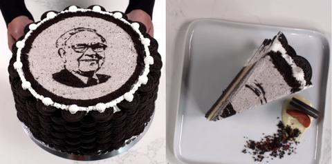 bill gates birthday cake warren buffet
