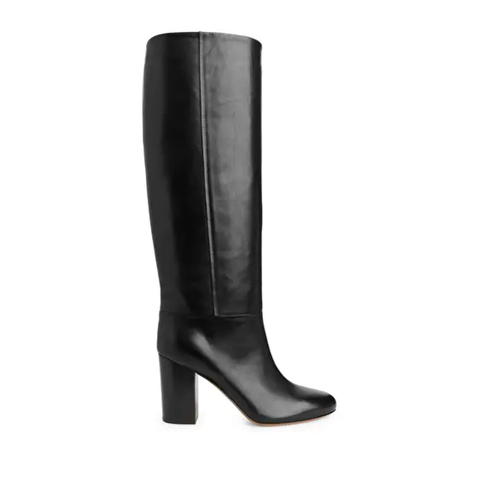 arket high heel leather boots