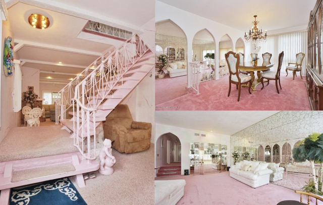 1970 style home pink
