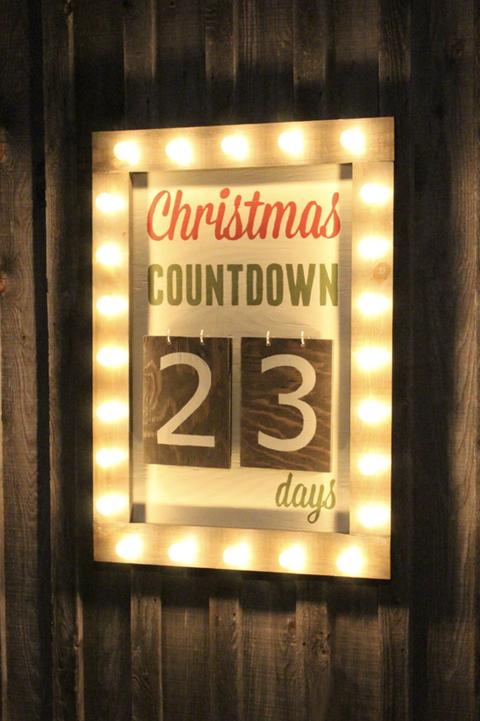 light up christmas countdown sign