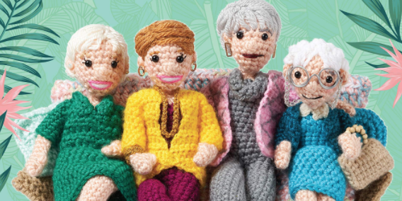 This New Book Will Teach You How To Crochet All Four Of 'The Golden Girls'