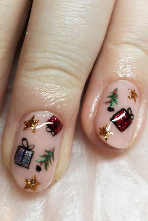 polishedbybecky christmas nail art