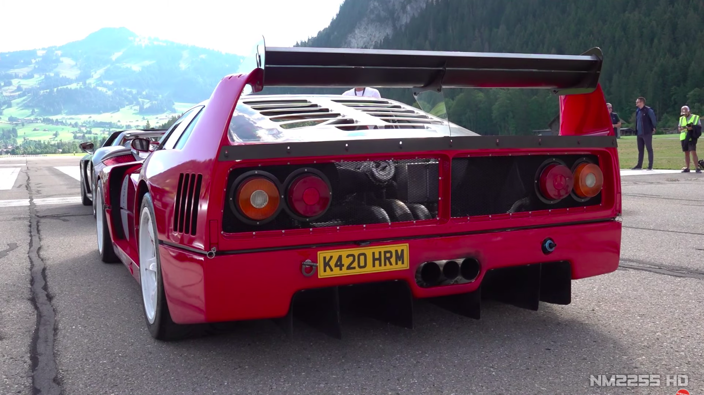 Straight Piped Ferrari F40 Lm At Full Throttle Sound Video