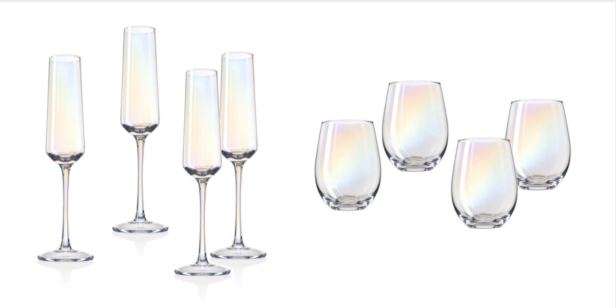 These Iridescent Wine And Champagne Glasses Will Make You Want To Pop Some Bubbly