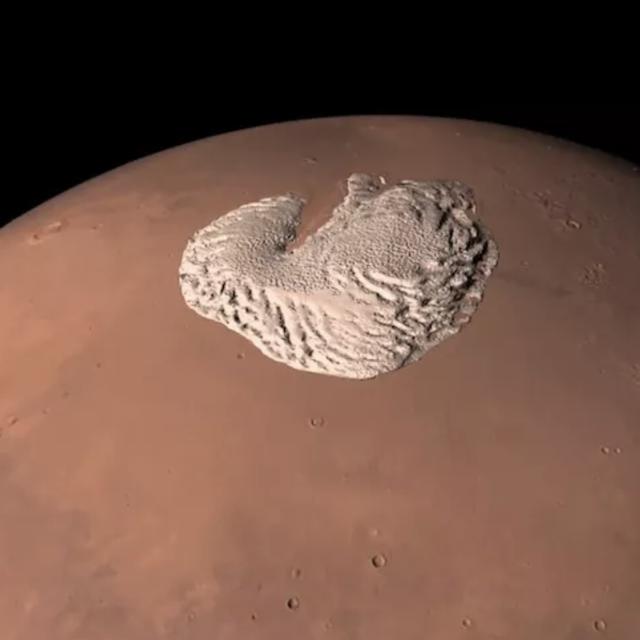 ice caps on mars