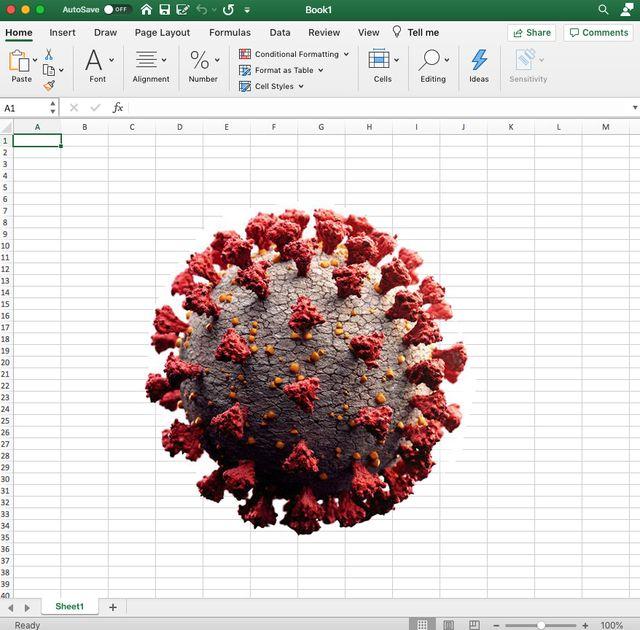 sars cov 2 on a spreadsheet