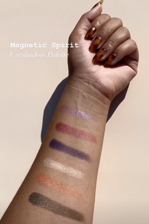 swatch of palette on arm