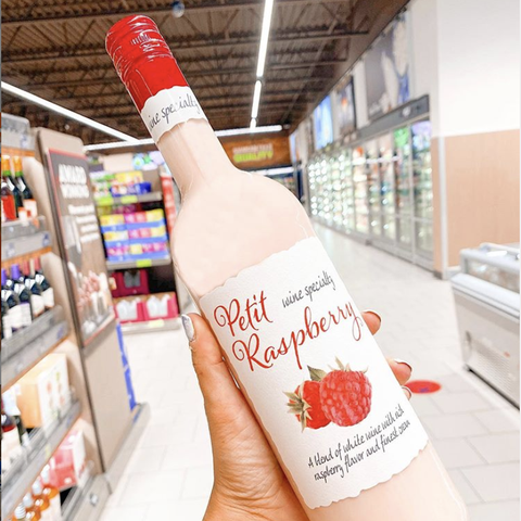 aldi petit raspberry wine