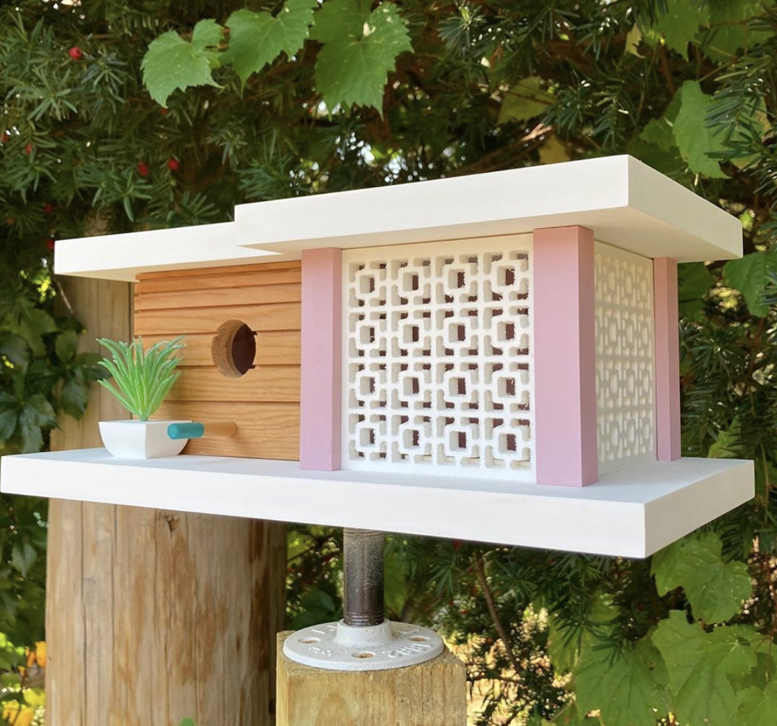These Midcentury Modern Birdhouses Are A Gem