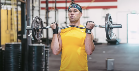 Nick Symmonds lift weights