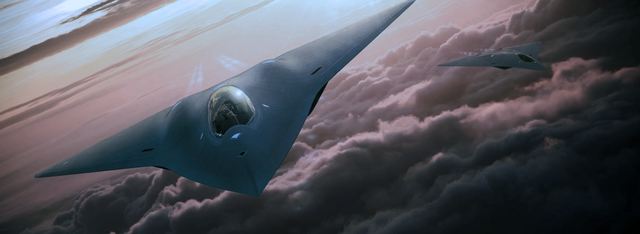 concept art for a new fighter jet