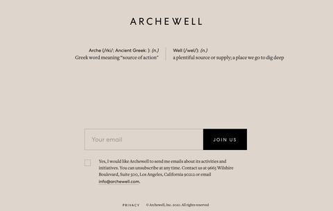 archewell website