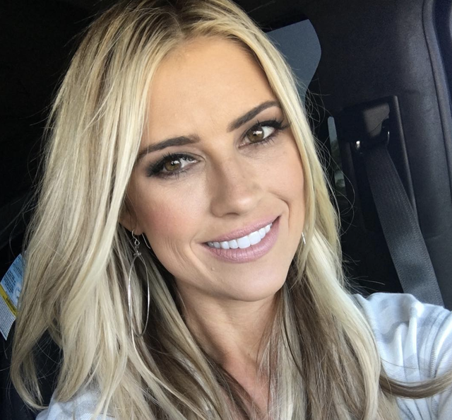 christina anstead makeup done in car