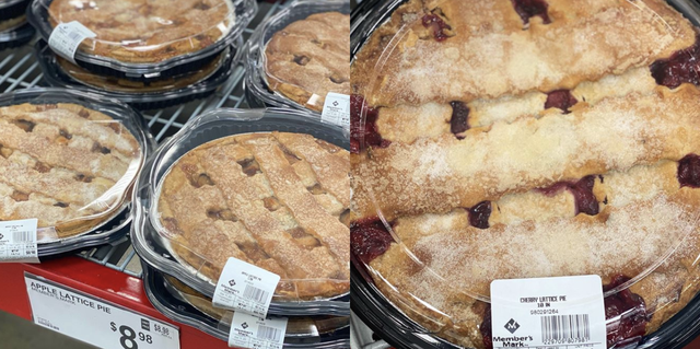 sams club fall pies apple lattice cherry lattice peach pumpkin pecan
