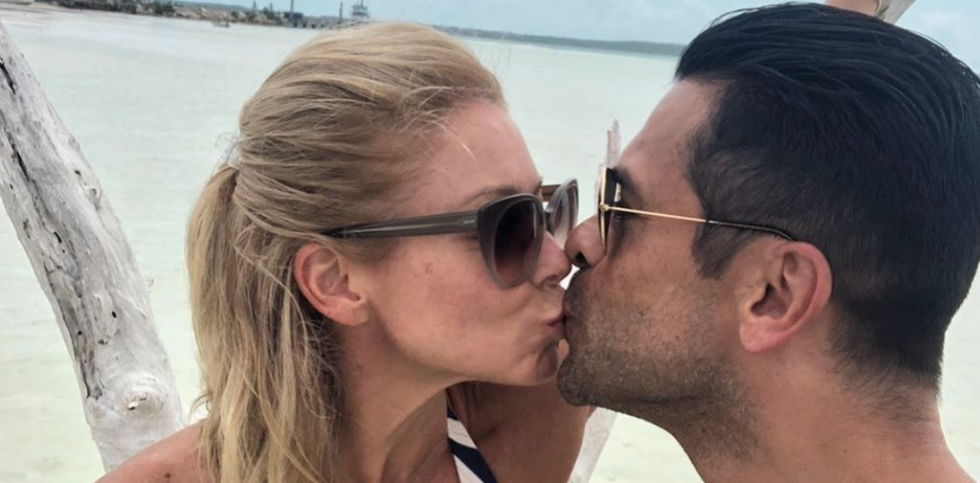 Kelly Ripa Confirms Husband Mark Consuelos' Bulge in NSFW Pic Is, Um, Because He Has a Big Penis