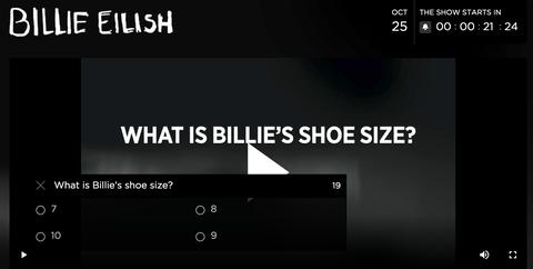 billie eilish怪奇比莉《where do we go》線上直播演唱會