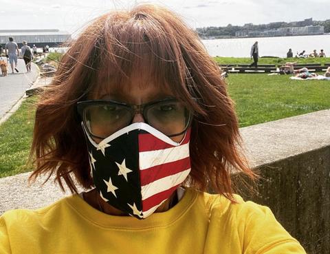 gayle king pandemic face mask