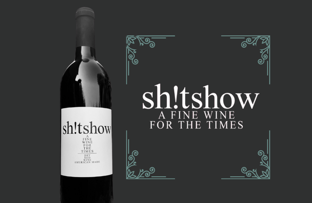 shit show wine, a fine wine for the times, glovedale winery, pennsylvania winery