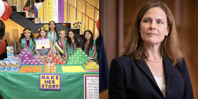 girl scouts of america, amy coney barret, supreme court justice, girl scouts official twitter accout, girl scout cookies