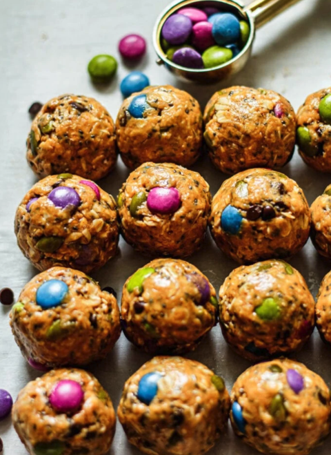 cookie balls with candy