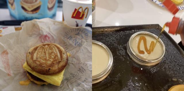 mcdonald's mcgriddle sandwich, mason jar ring lid tiktok hack for pancakes