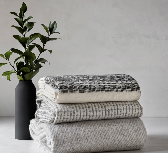 alpaca blankets stacked
