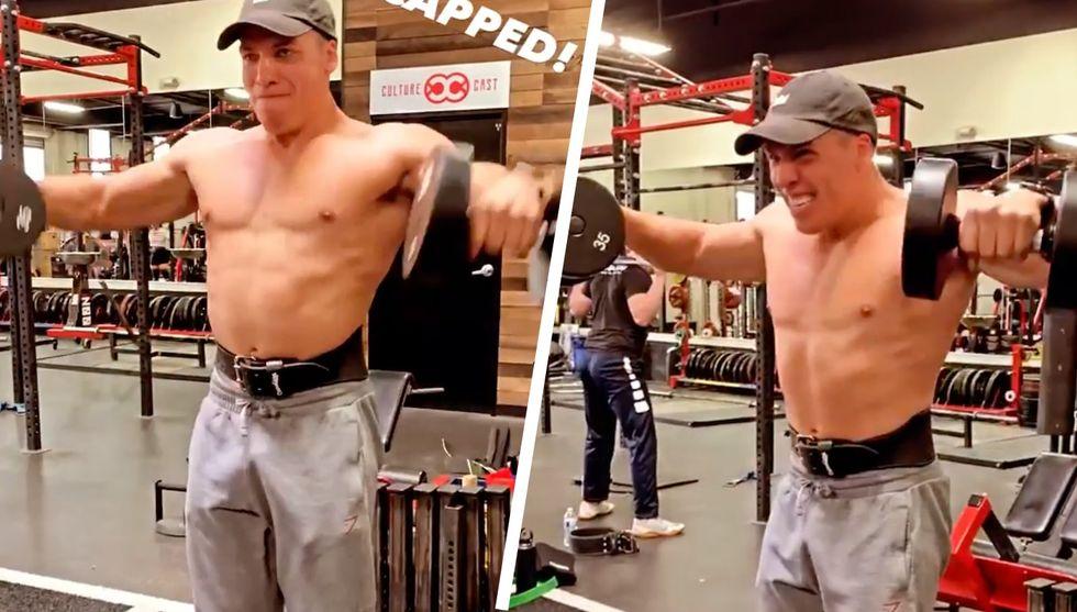 Watch Arnold's Son Joseph Baena Blast Through a Shoulder Workout