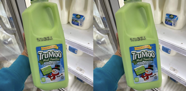 trumoo mint vanilla green milk