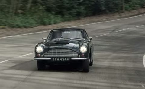 prince charles aston martin db6 volante in the crown