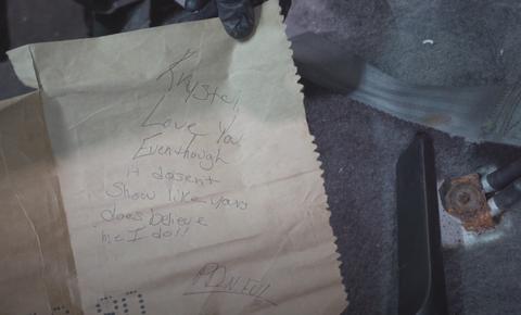 a close up of a handwritten love letter