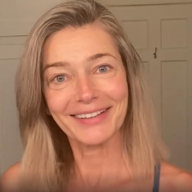 paulina porizkova no makeup instagram video
