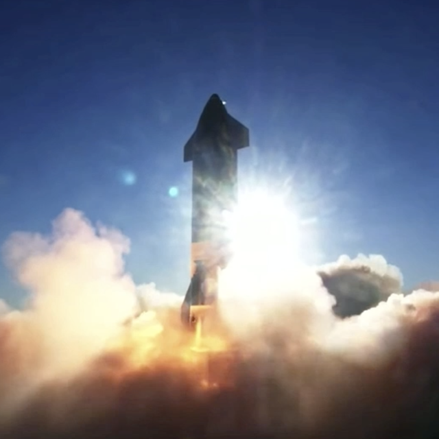 spacex starship prototype sn8 lifts off