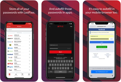 lastpass app screenshots