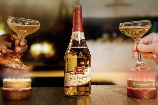 a champagne of beers toast