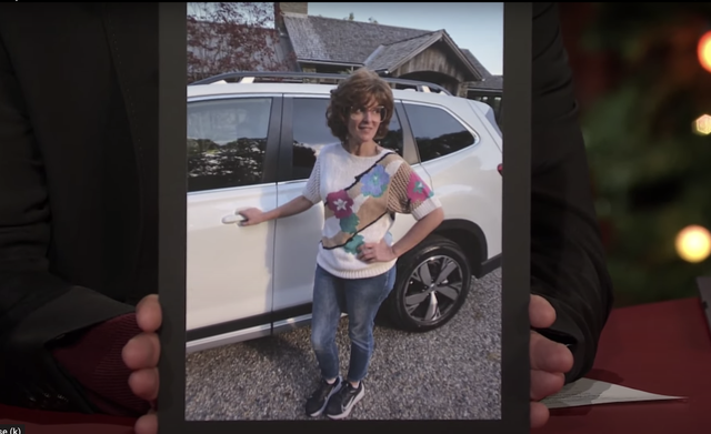 tina fey with subaru forester