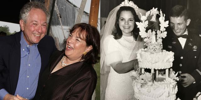 ina garten with husband jeffrey on wedding day, celebrating 52 years of marriage