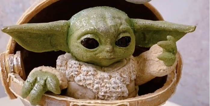 This TikTok shows how to make baby Yoda gingerbreads