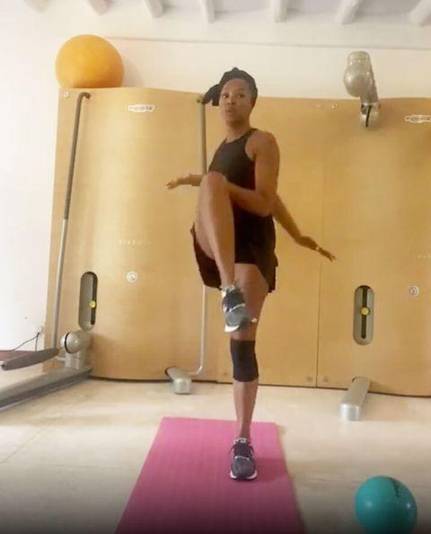 naomi campbell workout instagram