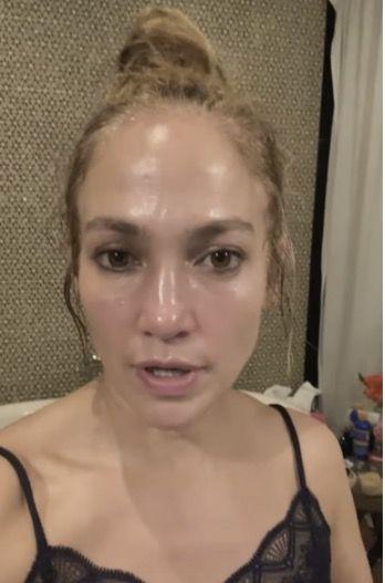 jennifer lopez no makeup and real skin texture