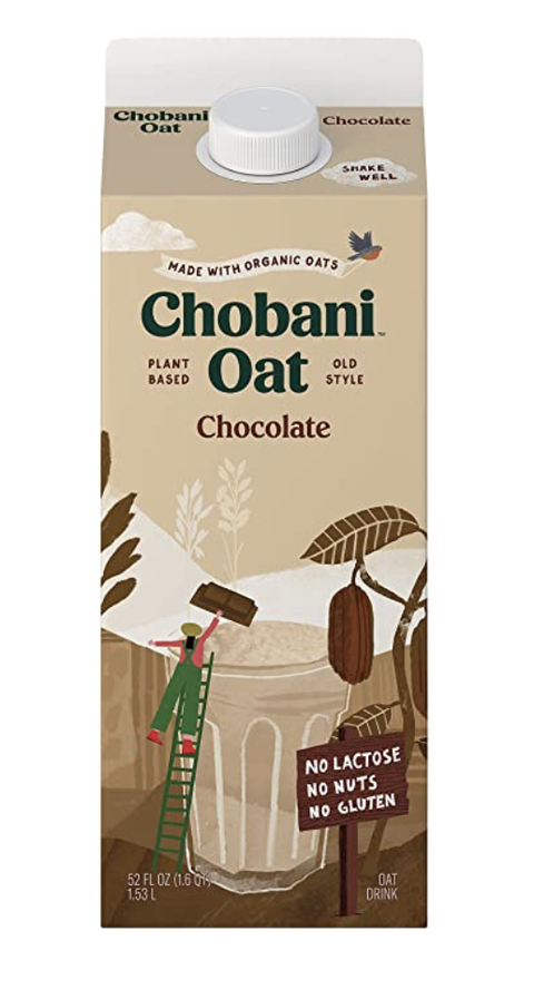 chobani oat drink, chocolate  plant based