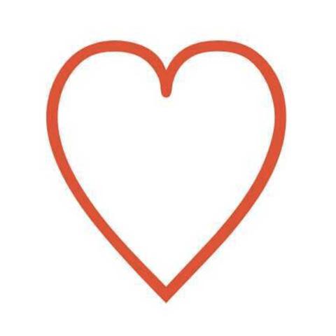 flat red heart emoji